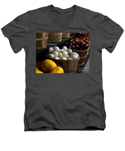 Men's V-Neck T-Shirt featuring the photograph Harvest by Elfriede Fulda