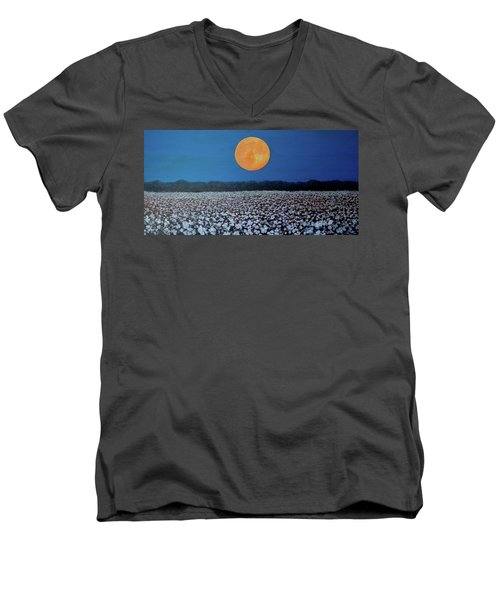 Harvest Moon Men's V-Neck T-Shirt by Jeanette Jarmon