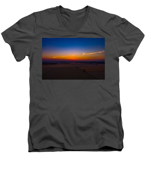 Harvest Sunrise Men's V-Neck T-Shirt