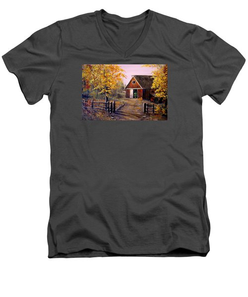 Harvest Time Men's V-Neck T-Shirt