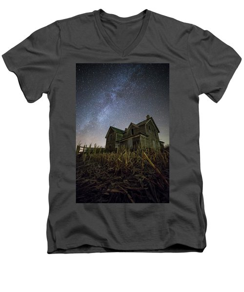 Men's V-Neck T-Shirt featuring the photograph Harvested  by Aaron J Groen
