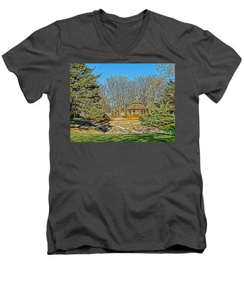 Harwycke Gazebo 1 Men's V-Neck T-Shirt