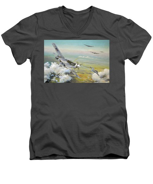 Haslope's Komet Men's V-Neck T-Shirt