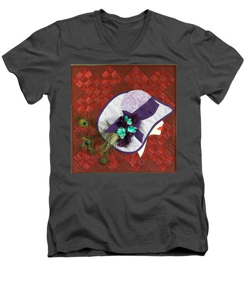 Hat Trick Men's V-Neck T-Shirt by Jo Baner