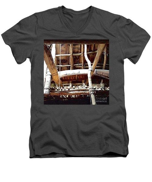 Haudenosaunee Longhouse  Men's V-Neck T-Shirt