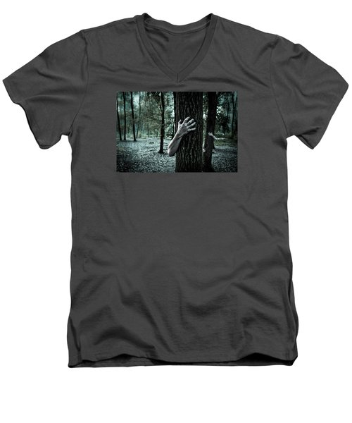 Haunted Forest  Men's V-Neck T-Shirt