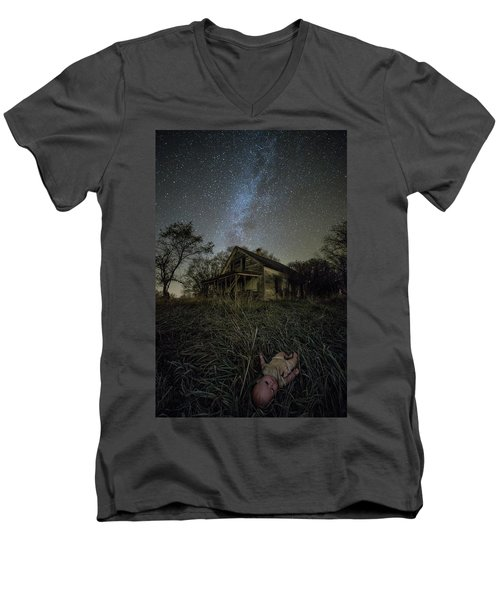 Men's V-Neck T-Shirt featuring the photograph Haunted Memories by Aaron J Groen