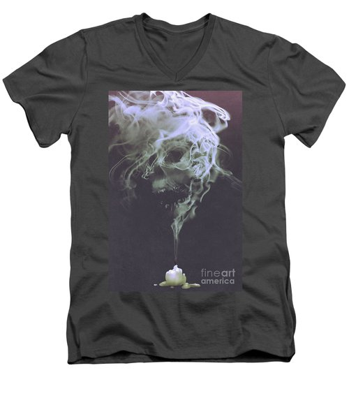 Haunted Smoke  Men's V-Neck T-Shirt