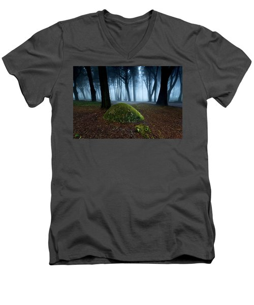 Men's V-Neck T-Shirt featuring the photograph Haunting by Jorge Maia