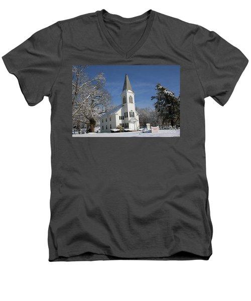 Hauppauge United Methodist Church  Men's V-Neck T-Shirt