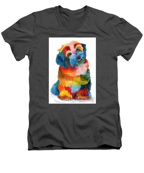 Hava Puppy Havanese Men's V-Neck T-Shirt