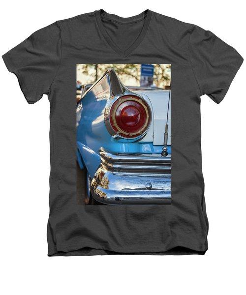 Men's V-Neck T-Shirt featuring the photograph Havana Cuba Vintage Car Tail Light by Joan Carroll