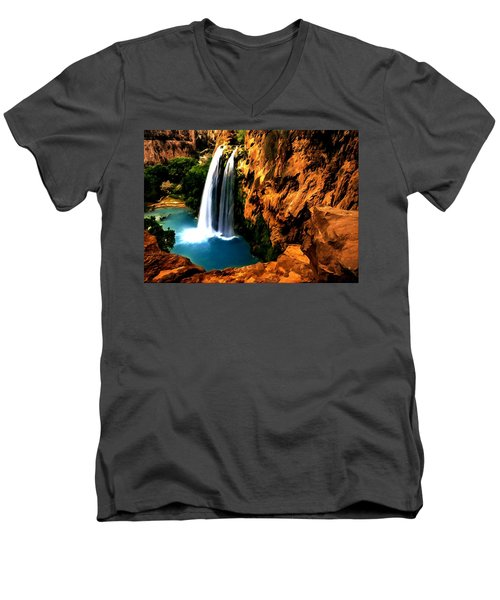 Havasu Waterfall Men's V-Neck T-Shirt