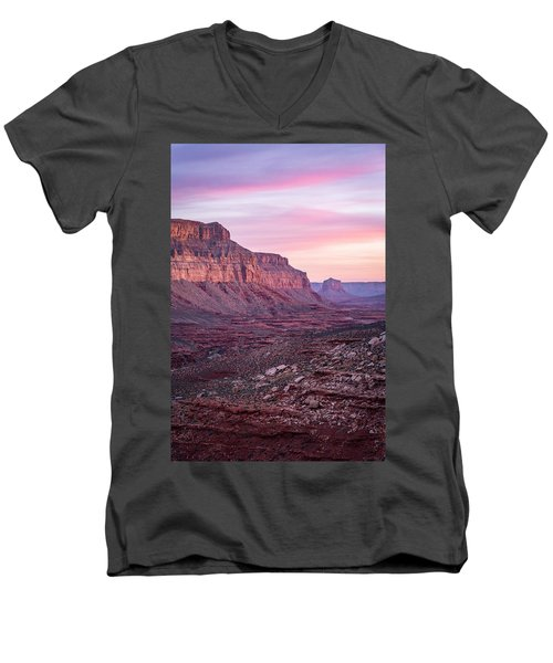 Havasupai Desert Sunrise Men's V-Neck T-Shirt by Serge Skiba