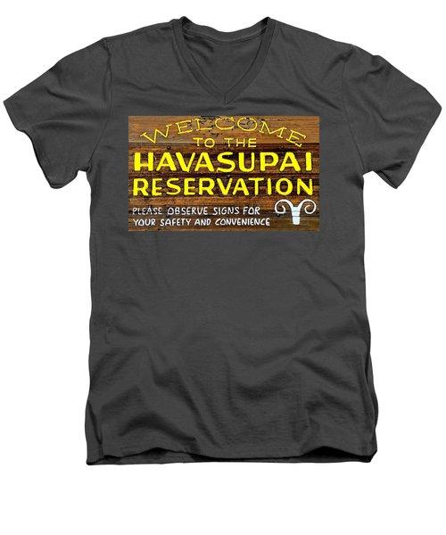 Havasupai Reservation Men's V-Neck T-Shirt by Joseph Hendrix