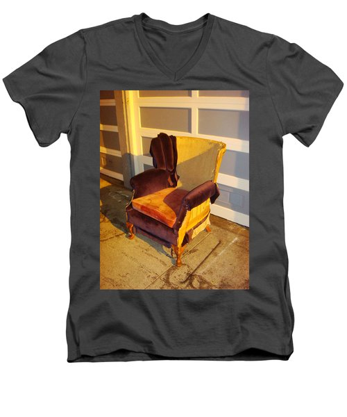 Men's V-Neck T-Shirt featuring the photograph Have A Seat In Dore Alley by Mr Photojimsf