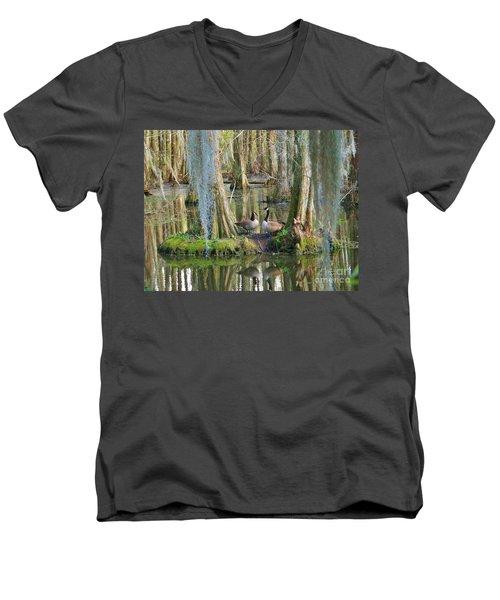 Haven Men's V-Neck T-Shirt by Sheila Ping