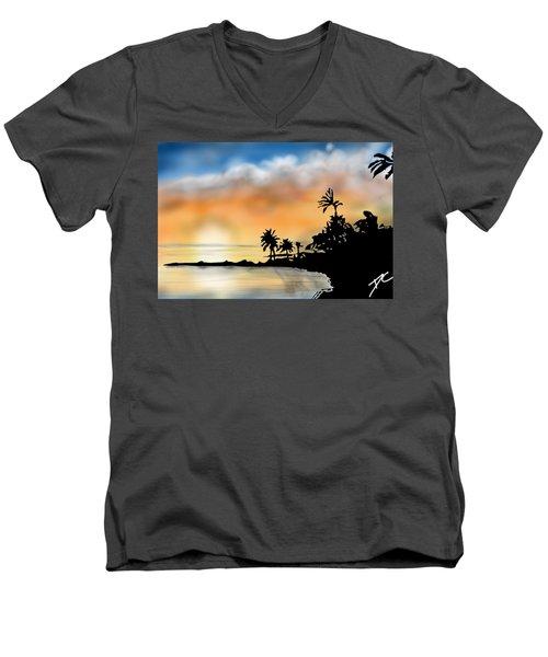 Hawaii Beach Men's V-Neck T-Shirt