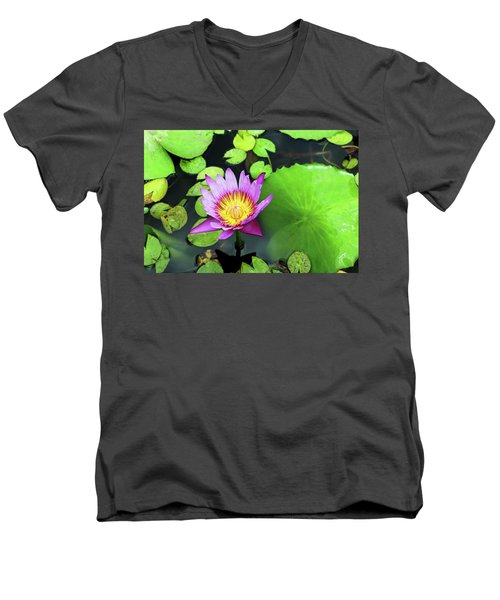 Men's V-Neck T-Shirt featuring the photograph Hawaii Flora by Denise Moore