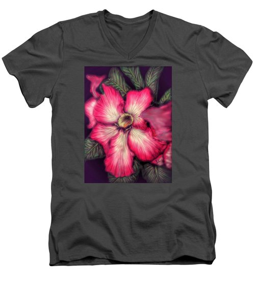 Hawaii Flower Men's V-Neck T-Shirt by Darren Cannell