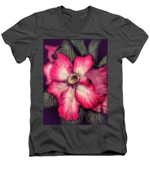 Hawaii Flower Men's V-Neck T-Shirt