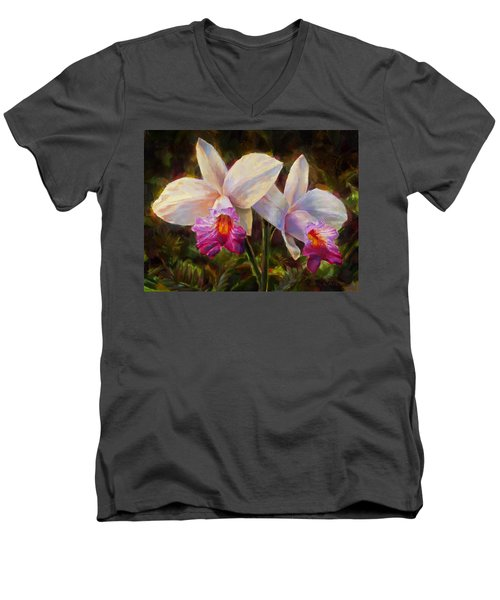 Hawaiian Bamboo Orchid Men's V-Neck T-Shirt