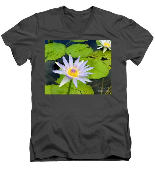 Hawaiian Lotus Men's V-Neck T-Shirt
