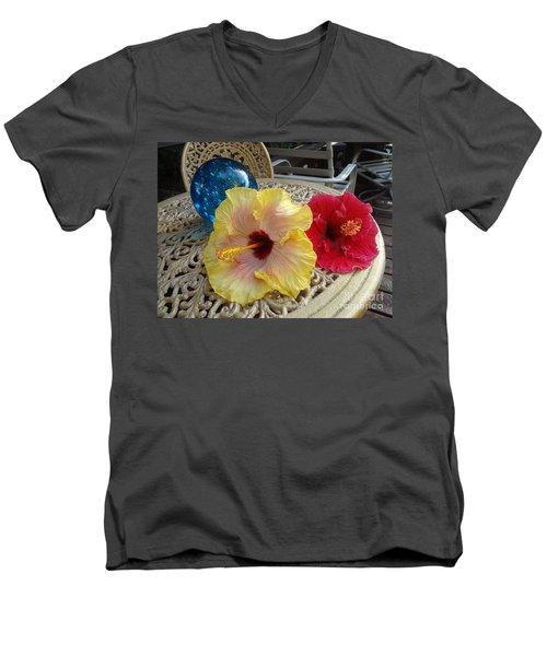 Hawaiian Lovelies Men's V-Neck T-Shirt