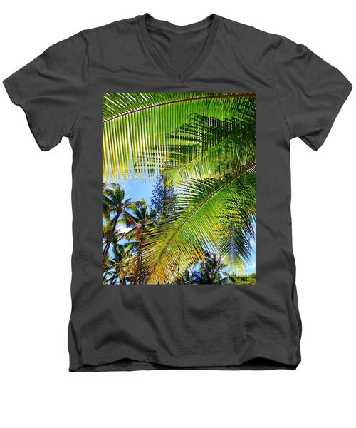 Hawaiian Palm Men's V-Neck T-Shirt