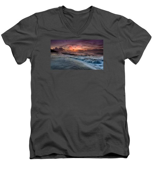 Hawaiian Sunrise Men's V-Neck T-Shirt
