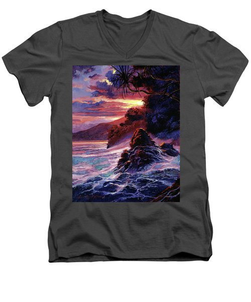 Hawaiian Sunset - Kauai Men's V-Neck T-Shirt