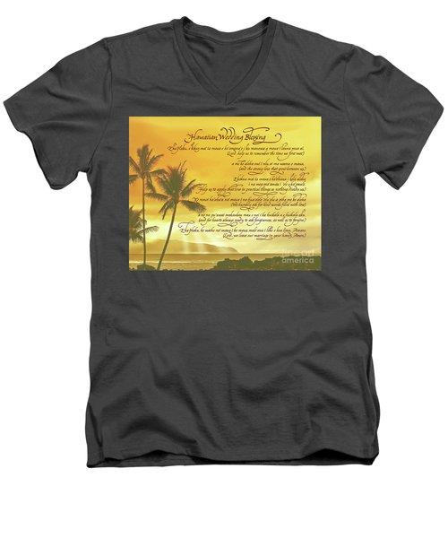 Hawaiian Wedding Blessing-sunset Men's V-Neck T-Shirt
