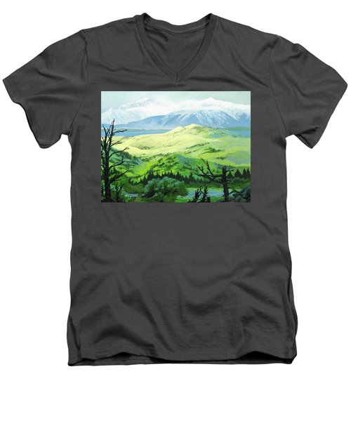 Hawk Meadows Men's V-Neck T-Shirt
