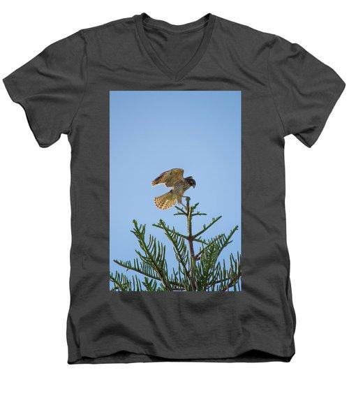 Hawk With Regal Landing Men's V-Neck T-Shirt