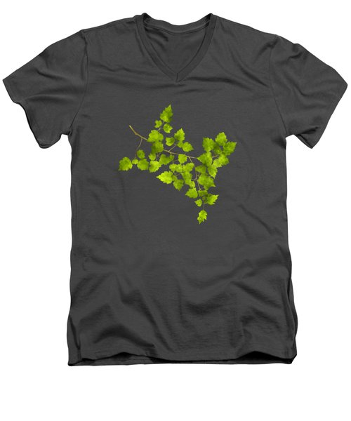 Hawthorn Pressed Leaf Art Men's V-Neck T-Shirt