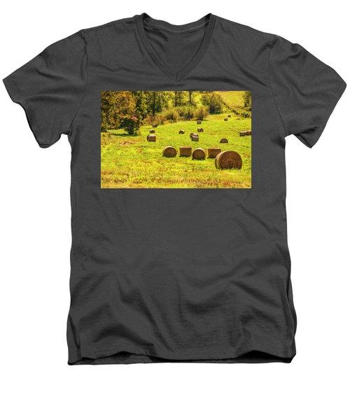 Hay Bales 2 Men's V-Neck T-Shirt