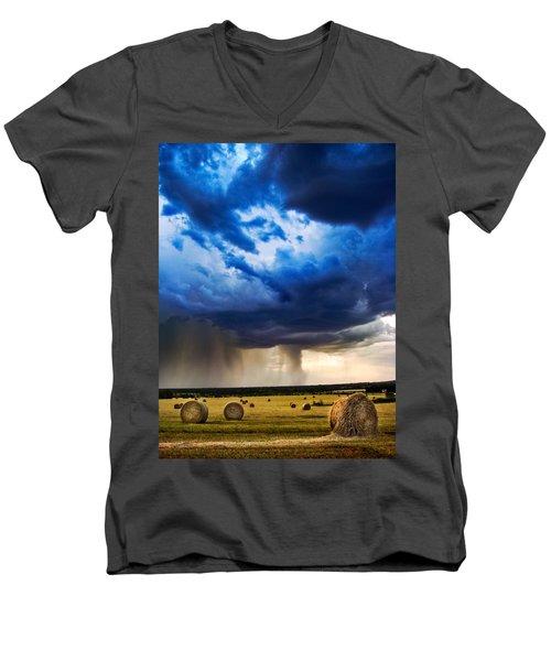 Hay In The Storm Men's V-Neck T-Shirt