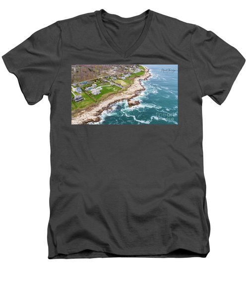 Hazard Rocks, Narragansett  Men's V-Neck T-Shirt