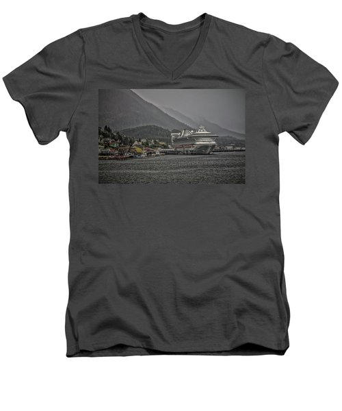 Men's V-Neck T-Shirt featuring the photograph Hazy Day In Paradise  by Timothy Latta