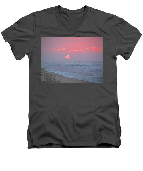 Hazy Sunrise I I Men's V-Neck T-Shirt by  Newwwman