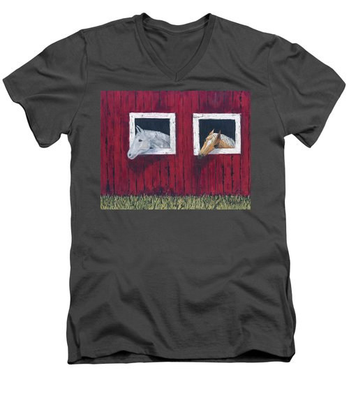 He And She Men's V-Neck T-Shirt