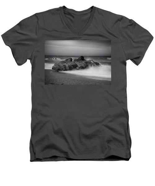 He Enters The Sea Men's V-Neck T-Shirt by Laurie Search