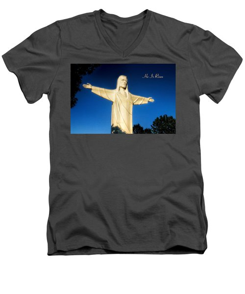 Men's V-Neck T-Shirt featuring the photograph He Is Risen by Joan Bertucci
