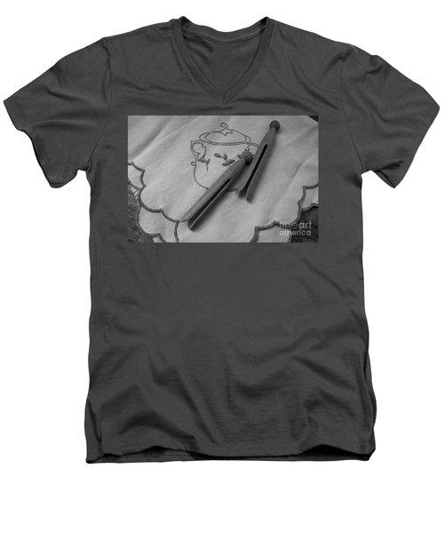 He Snored Men's V-Neck T-Shirt