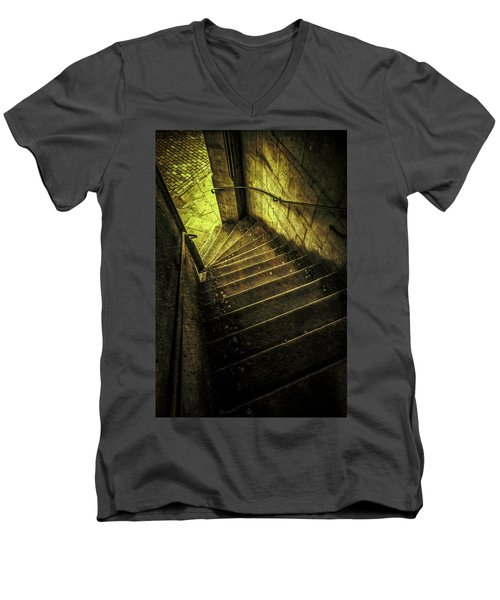 Men's V-Neck T-Shirt featuring the photograph Head Full Of Drought by Russell Styles
