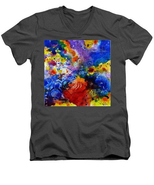 Head Over Feet Men's V-Neck T-Shirt by Tracy Bonin