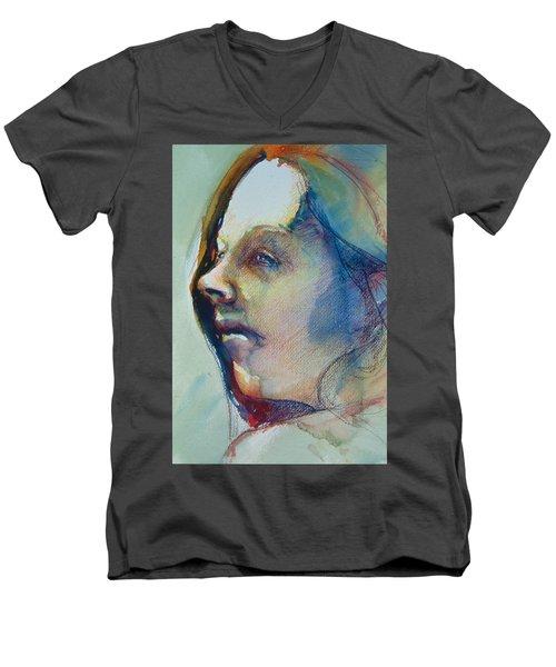 Head Study 7 Men's V-Neck T-Shirt