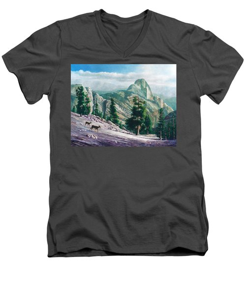 Heading Down Men's V-Neck T-Shirt by Douglas Castleman