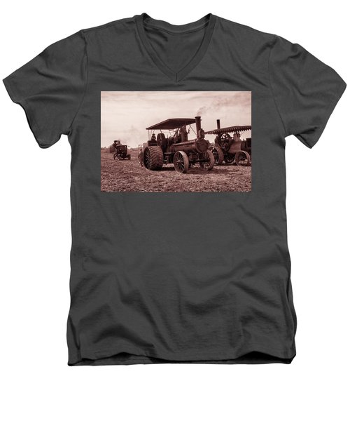 Heading Out Antiqued Men's V-Neck T-Shirt