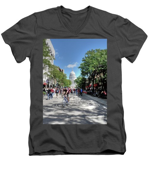 Heading To Camp Randall Men's V-Neck T-Shirt by David Bearden